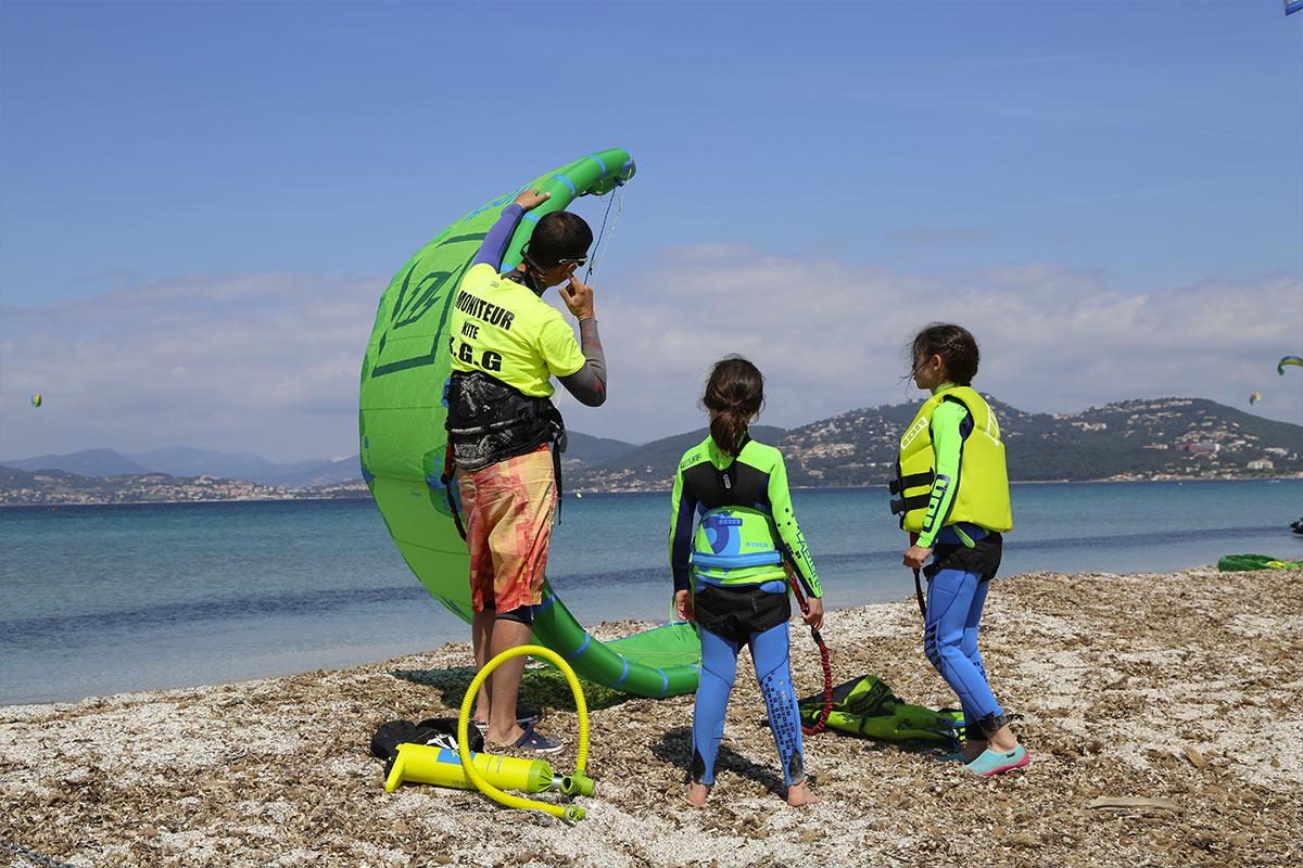 Cours de Kitesurf pour enfants Var