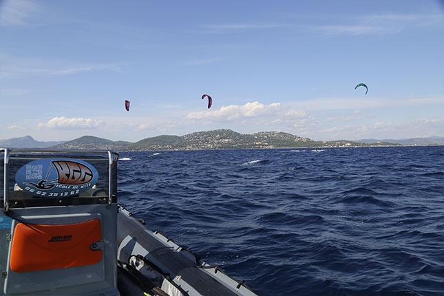 Dépose en-mer-Kitesurf