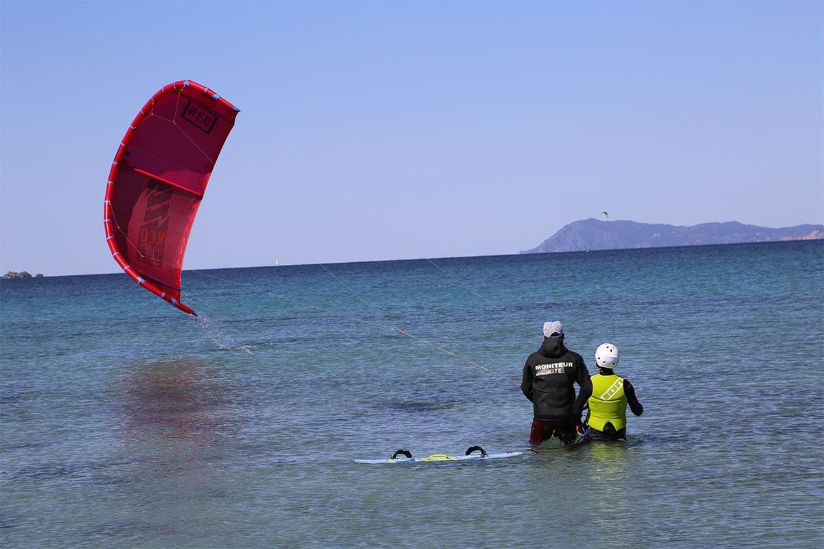 Pilotage de la voile de kitesurf
