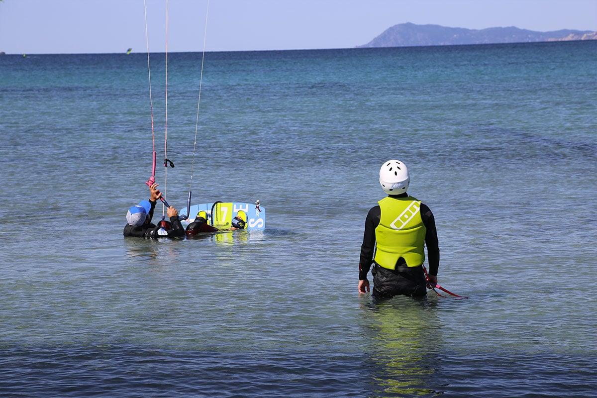 Waterstart en kitesurf